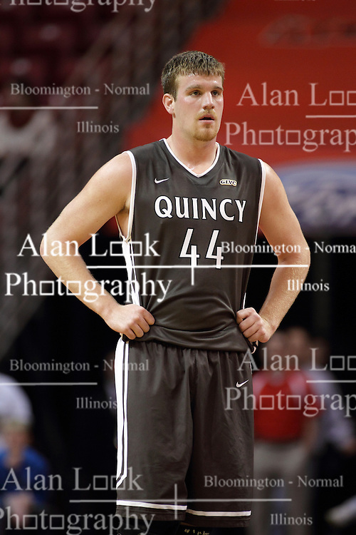 29 December 2014:  Josh Schaben during an NCAA non-conference interdivisional exhibition game between the Quincy University Hawks and the Illinois State University Redbirds at Redbird Arena in Normal Illinois.