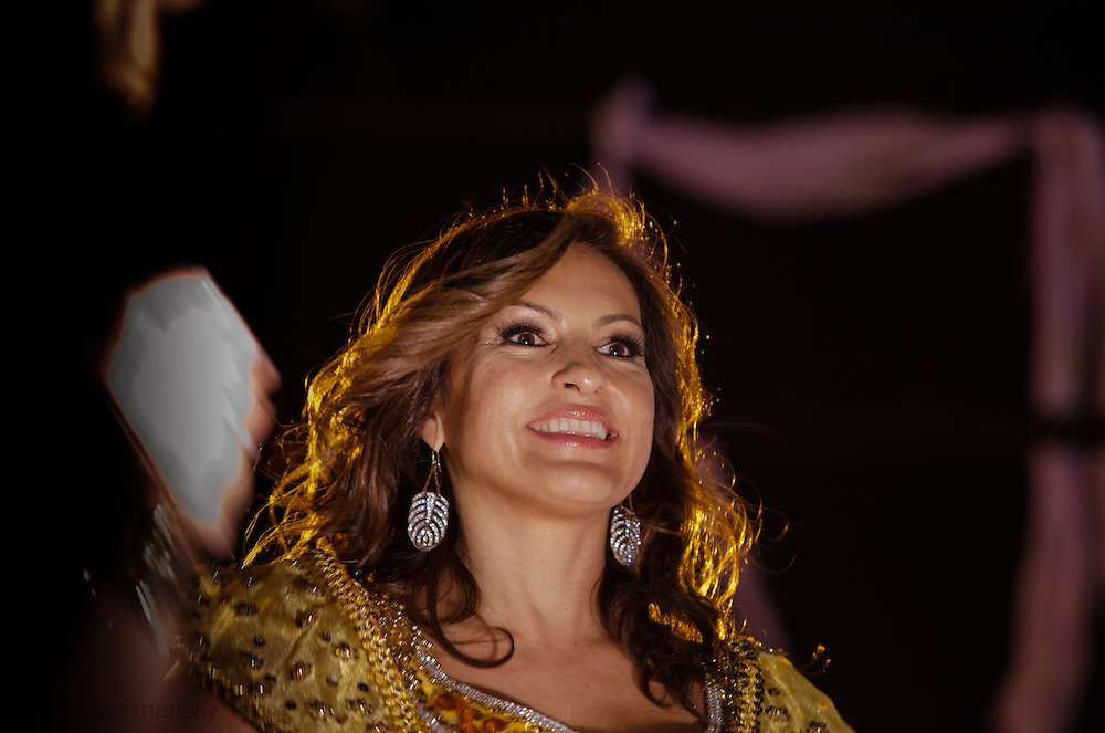 Mariska Hargitay  rides on a float with the Krewe of Orpheus during Mardi Gras 2012 in New Orleans