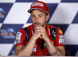 May 2, 2019 - Jerez De La Frontera, Cadiz, Spain - Andrea Dovizioso (4) of Italy and Ducati Team during the press conference before Red Bull GP of Spain at Circuito de Jerez on May 2, 2019 in Jerez de la Frontera, Spain. (Credit Image: © Jose Breton/NurPhoto via ZUMA Press)