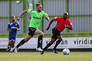 Forest Green Rovers Carl Winchester(7) runs forward during the Pre-Season Friendly match between Forest Green Rovers and Leeds United at the New Lawn, Forest Green, United Kingdom on 17 July 2018. Picture by Shane Healey.