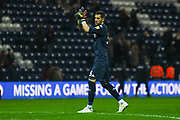 Francisco Casilla of Leeds United (33) claps the Leeds fans after the EFL Sky Bet Championship match between Preston North End and Leeds United at Deepdale, Preston, England on 9 April 2019.