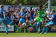Forest Green Rovers Reuben Reid(26) on the ball during the EFL Sky Bet League 2 match between Forest Green Rovers and Grimsby Town FC at the New Lawn, Forest Green, United Kingdom on 5 May 2018. Picture by Shane Healey.