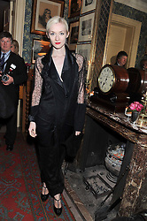 PORTIA FREEMAN at a party hosted by Justine Picardie, Editor-in-Chief of Harper's Bazaar UK and Glenda Bailey, Editor-in-Chief of Harper's Bazaar US to celebrate the end of London Fashion Week and the biggest-ever March issues of Harper's Bazaar, held at Mark's Club, Charles Street, London on 19th February 2013.