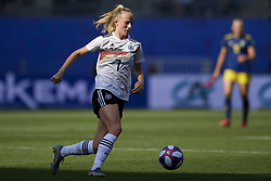 June 29, 2019 - Rennes, France - Lea Schueller (Sgs Essen) of Germany in action during the 2019 FIFA Women's World Cup France Quarter Final match between Germany and Sweden at Roazhon Park on June 29, 2019 in Rennes, France. (Credit Image: © Jose Breton/NurPhoto via ZUMA Press)