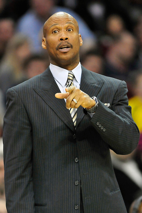 Feb. 27, 2011; Cleveland, OH, USA; Cleveland Cavaliers head coach Byron Scott during the fourth quarter against the Philadelphia 76ers at Quicken Loans Arena. The 76ers beat the Cavaliers 95-91.Mandatory Credit: Jason Miller-US PRESSWIRE