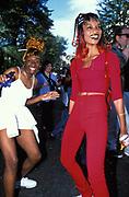 Ragga girls. Notting Hill Carnival, London, UK 1999
