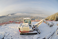 Winter View of Bergen from the top of Mt Fløyen. Image taken with a Nikon Dxs and 10.5 mm f/2.8 fisheye lens (ISO 200, 10.5 mm, f/8, 1/250 sec)