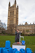John Leech MP. Marking World Water Day, over 40 MP's walked for water at Westminster, London at an event organised by WaterAid and Tearfund. Globally hundreds of thousands of people took part in the campaign to raise awareness of the world water crisis.