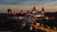 Гигапиксельная вечерняя панорама замка в Каменце-Подольском.