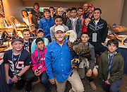 Camp Periwinkle 2015 campers from Neptune and Zeus attend the Houston Texans vs. NY Jets NFL game, November 22, 2015.