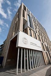 Modern Dugald Stewart Building at University of Edinburgh in Scotland, United Kingdom