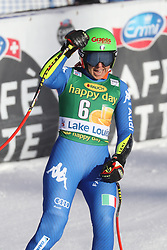 03.12.2017, Lake Louise, CAN, FIS Weltcup Ski Alpin, Lake Louise, Super G, Damen, im Bild Johanna Schnarf (ITA) // Johanna Schnarf of Italy reacts after the ladie's Super G of FIS Ski Alpine World Cup in Lake Louise, Canada on 2017/12/03. EXPA Pictures © 2017, PhotoCredit: EXPA/ SM<br /> <br /> *****ATTENTION - OUT of GER*****