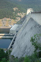 Libby Dam, impounding the Kootenai River and creating Lake Koocanusa in northwest Montana.