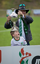 RHOSYMEDRE, WALES - Sunday, May 5, 2019: The New Saints' chairman Mike Harris with the trophy after the FAW JD Welsh Cup Final between Connah's Quay Nomads and The New Saints at The Rock. TNS won 3-0. (Pic by David Rawcliffe/Propaganda)