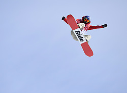February 19, 2018 - Pyeongchang, South Korea - ISABEL DERUNGA of Switzerland competes in the Women's Snowboard Big Air  qualifications Monday, February 19, 2018 at the Alpensia Ski Jumping Centre at the Pyeongchang Winter Olympic Games. Derunga failed to qualify for the finals. The sport is making it's first appearance as an Olympic sport. Photo by Mark Reis, ZUMA Press/The Gazette (Credit Image: © Mark Reis via ZUMA Wire)