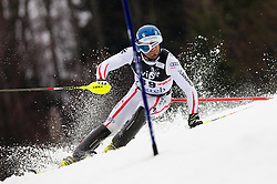"""HOERL Wolfgang (AUT) during 1st Run of 4th Men's Slalom at FIS Alpine Ski World Cup  """"Vip Snow Queen Trophy"""" 2012 on January 5, 2012 at Red Run course, Sljeme, Zagreb, Croatia.  (Photo By Vid Ponikvar / Sportida.com)"""