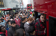 APR 30 2014 London Underground second day Tube strike affects Londoners