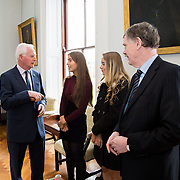 20.11.2016           <br /> Winners of the 2016 All Ireland Scholarships were commended by Rugby Legend, Paul O'Connell at an awards ceremony at the University of Limerick. <br />  Sponsored by JP McManus, the educational scheme is set to provide financial assistance to many high achieving students who completed their Leaving Certificat/A Level examinations in 2016. <br /> <br /> Attending the awards ceremony were, scholarship recipients, Chloe Carrick, Ballinasloe Co. Galway and Eimear McErlane, The Loup Co. Derry with Gerry Boland, JP McManus Foundation and Andrew McCormick, The Permanent Secretary at the Department for the Economy, Northern Ireland. Picture: Alan Place