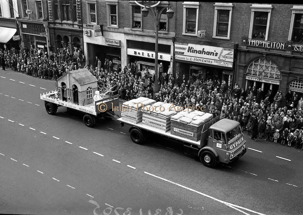 17/3/1966<br /> 3/17/1966<br /> 17 March 1966<br /> <br /> St. Patrick's Day Parade Gypsum Industries Display