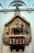 Leonardo Marchioni De Malaspinis.  Monument  made ca 1430-1435 in stucco, marble, Istrian stone.