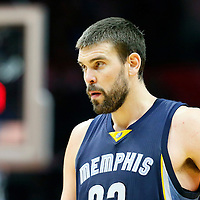 09 November 2015: Memphis Grizzlies center Marc Gasol (33) rests during the Los Angeles Clippers 94-92 victory over the Memphis Grizzlies, at the Staples Center, in Los Angeles, California, USA.