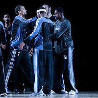 06 October 2010: Minnesota Timberwolves forward Michael Beasley #8 is seen during the players introduction prior to the Minnesota Timberwolves 106-100 victory over the New York Knicks, during 2010 NBA Europe Live, at the POPB Arena in Paris, France.