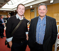 Dr. John Ryan, Mater, Mr. Liam McMullin, Roscommon General at the Clinical Science Building UCHG. Photo:Andrew Downes