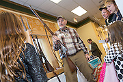 A supporter of gun rights shows off a civil war rifle during the South Carolina Tea Party Coalition convention on January 18, 2015 in Myrtle Beach, South Carolina.