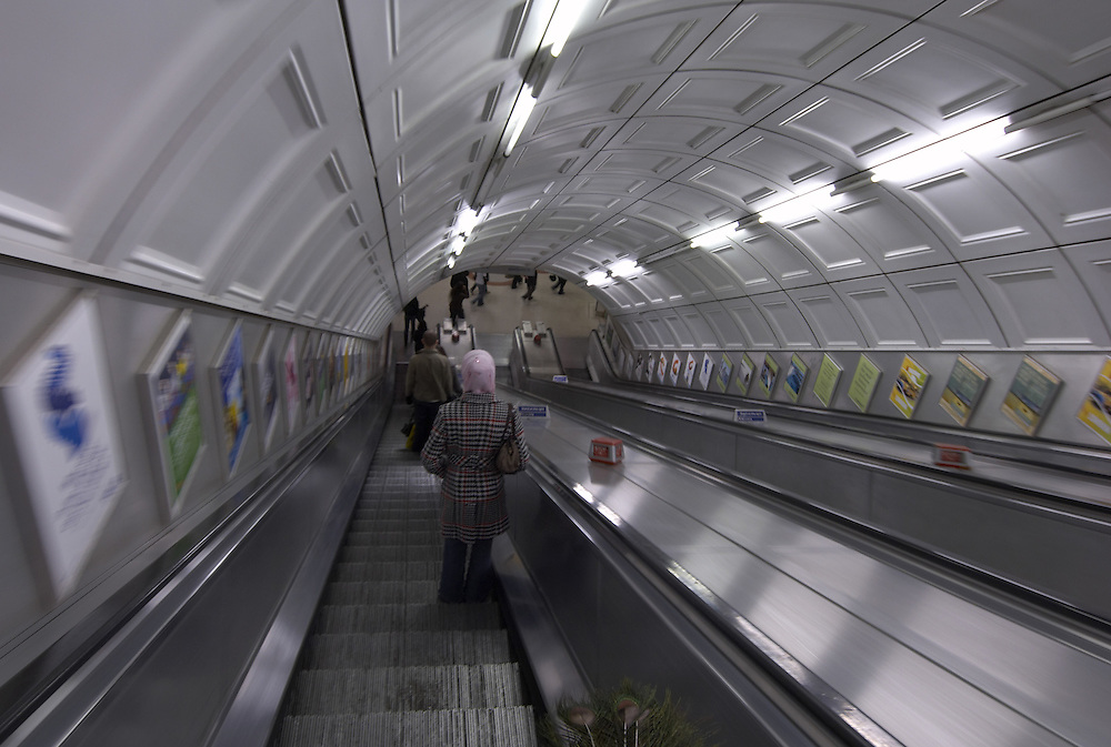 London underground escalators