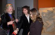 Lord Weymouth, Ivor Braka and Elizabeth de Stamford. Art Deco 1910-1939, V. & A. 26 March 2003. © Copyright Photograph by Dafydd Jones 66 Stockwell Park Rd. London SW9 0DA Tel 020 7733 0108 www.dafjones.com