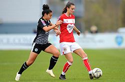 Mayumi Pacheco of Reading Women competes with Rosella Ayane of Bristol City- Mandatory by-line: Nizaam Jones/JMP- 31/03/2019 - FOOTBALL - Stoke Gifford Stadium - Bristol, England - Bristol City Women v Reading Women - FA Women's Super League 1