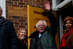 Bernie Sanders, Independent US Senator from Vermont great supporters after speaking on stage as he kicks-off his campaign for the 2020 U.S. Presidential Elections on a Democratic ticket at a rally at Brooklyn College, in Brooklyn, NY on March 2, 2019.