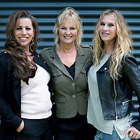 Nederland, Bussum, 3 mei 2016.<br /> 3 van de 5 zangeressen uit de voormalige meiden band de Dolly Dots.<br /> Op de foto: Dolly Dots ESTHER OOSTERBEEK, Angéla KRAMERS en ANITA HEILKER<br /> <br /> Dolly Dots were a popular Dutch girl band in the 1980s. With their style of upbeat dance/pop, they scored many hits throughout Europe<br /> <br /> Foto: Jean-Pierre Jans