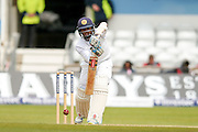 Straight drive from Sri Lanka Kusal Mendis  during day 3 of the first Investec Test Series 2016 match between England and Sri Lanka at Headingly Stadium, Leeds, United Kingdom on 21 May 2016. Photo by Simon Davies.