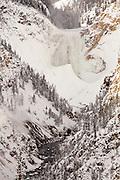 Yellowstone Falls in winter. January 2013.
