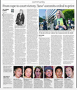 """Japam Times Community section. Portrait image of Catherine """"Jane"""" Fisher (top right image only) July 15th 2014"""