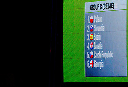 Group C plays in Celje: Poland, Slovenia, Spain, Croatia, Czech Republic and Georgia during FIBA Europe Eurobasket 2013 draw ceremony on November 18, 2012 in Postojna cave, Postojna, Slovenia. (Photo By Vid Ponikvar / Sportida)