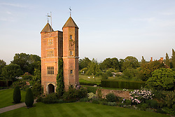 Evening light on the Tower at Sissinghurst Castle Garden