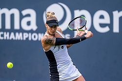 Polona Hercog of Slovenia in action during First Round, Ladies Singles Match on Day Two of the Libema Open 2019 on June 11, 2019 in Rosmalen, Netherlands. Photo by Ronald Hoogendoorn / Sportida