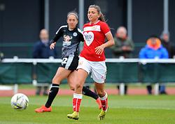 Abi Harrison of Bristol City gets past Jo Potter of Reading Women- Mandatory by-line: Nizaam Jones/JMP- 31/03/2019 - FOOTBALL - Stoke Gifford Stadium - Bristol, England - Bristol City Women v Reading Women - FA Women's Super League 1