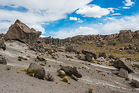 Imata Stone Forest in the peruvian Andes at Arequipa Peru