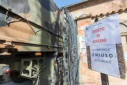 ARRIVO IN CORSO ERCOLE I D'ESTE PORTA DEGLI ANGELI<br /> ARRIVO SALME DA BERGAMO DESTINATE ALLA CREMAZIONE<br /> EMERGENZA CORONAVIRUS