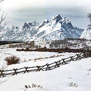 Grand Teton Mountain Range, taken from the Dubois entrane to Grand Teton National Park