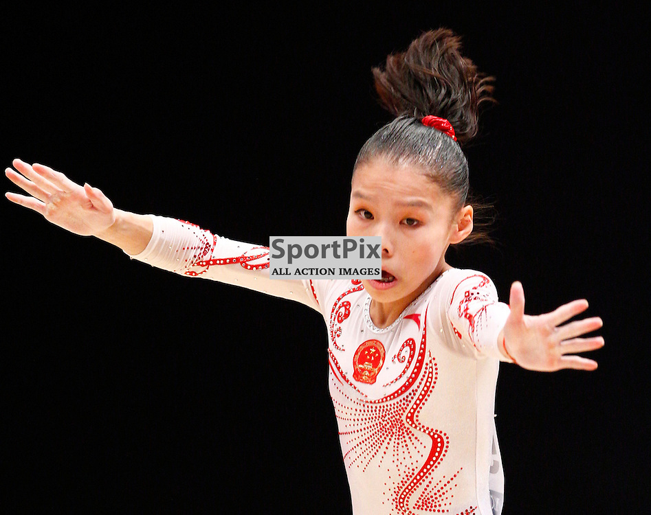 2015 Artistic Gymnastics World Championships being held in Glasgow from 23rd October to 1st November 2015...Chungsong Shang (Peoples Republic of China) competing in the Floor Exercise competition...(c) STEPHEN LAWSON | SportPix.org.uk