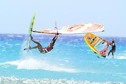 25.07.2015, Costa Calma, Fuerteventura, ESP, PWA Windsurfing Freestyle Grand Slam, im Bild Beholz AdrianG-888 // during the PWA Windsurfing Freestyle Grand Slam at the Costa Calma in Fuerteventura, Spain on 2015/07/25. EXPA Pictures © 2015, PhotoCredit: EXPA/ Eibner-Pressefoto/ Roskaritz<br /> <br /> *****ATTENTION - OUT of GER*****