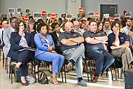 Formosa supporters in the front row at Louisiana's Department of Environmental Quality's  public hearing on whether to approve the 15 air permits for Taiwanese company Formosa Plastics in Vacherie, LA. on July 9, 2019.