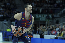 December 14, 2017 - Madrid, Spain - Pau Ribas of FC Barcelona Lassa during the 2017/2018 Turkish Airlines Euroleague Regular Season Round 12 game between Real Madrid v FC Barcelona Lassa at Wizink Arena on December 14, 2017 in Madrid, Spain. (Credit Image: © Oscar Gonzalez/NurPhoto via ZUMA Press)