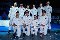 13-01-2019 NED: ISU European Short Track Championships 2019 day 3, Dordrecht<br /> Crew pose during the ISU European Short Track Speed Skating Championships.