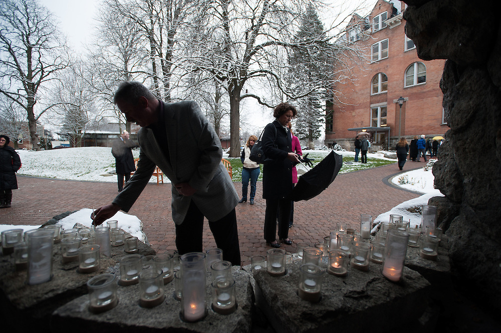 Candlelight Vigil for Connecticut. Photo by Rajah Bose