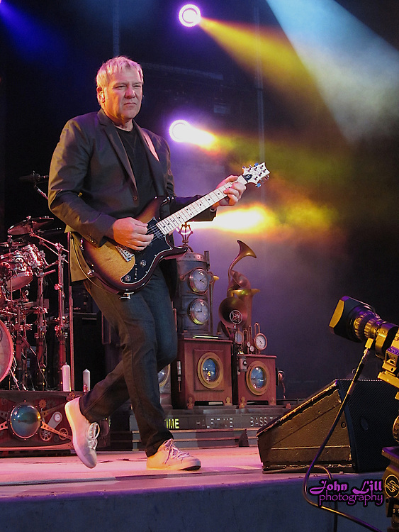 Alex Lifeson of Rush performs during the band's 2011 Time Machine tour. Photo by John Lill